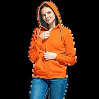 Толстовка женская , StanStyleWomen, 17W, Оранжевый-Серый меланж (28/50), XS/42