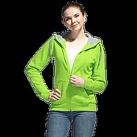 Толстовка женская , StanStyleWomen, 17W, Ярко-зелёный-Серый меланж (26/50), M/46, фото 1