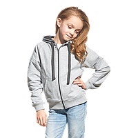 Облегченная детская толстовка , StanCoolJunior, 61J, Серый меланж (50), 8 лет