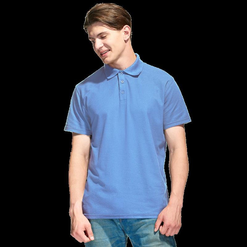 Базовая рубашка поло , StanPremier, 04, Голубой (76), XXL/54
