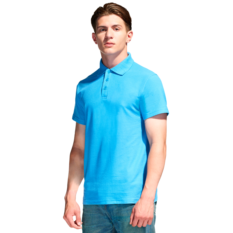 Базовая рубашка поло , StanPremier, 04, Бирюзовый (32), XXL/54