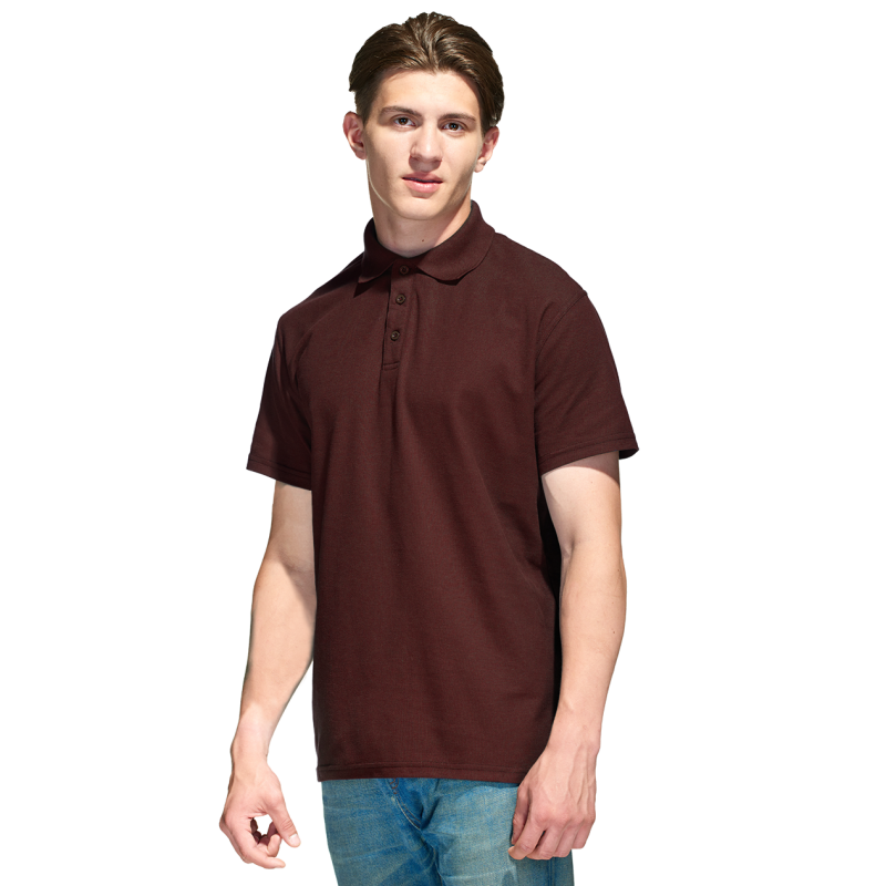 Базовая рубашка поло , StanPremier, 04, Тёмно-Шоколадный (107), XXL/54