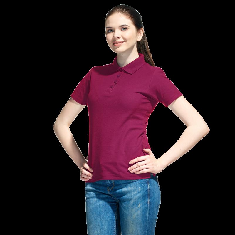 Базовая рубашка поло , StanWomen, 04WL, Бордовый (66), XL/50