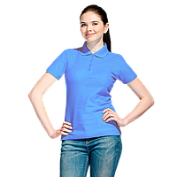 Базовая рубашка поло , StanWomen, 04WL, Голубой (76), XS/42