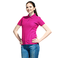 Базовая рубашка поло , StanWomen, 04WL, Ярко-розовый (92), S/44