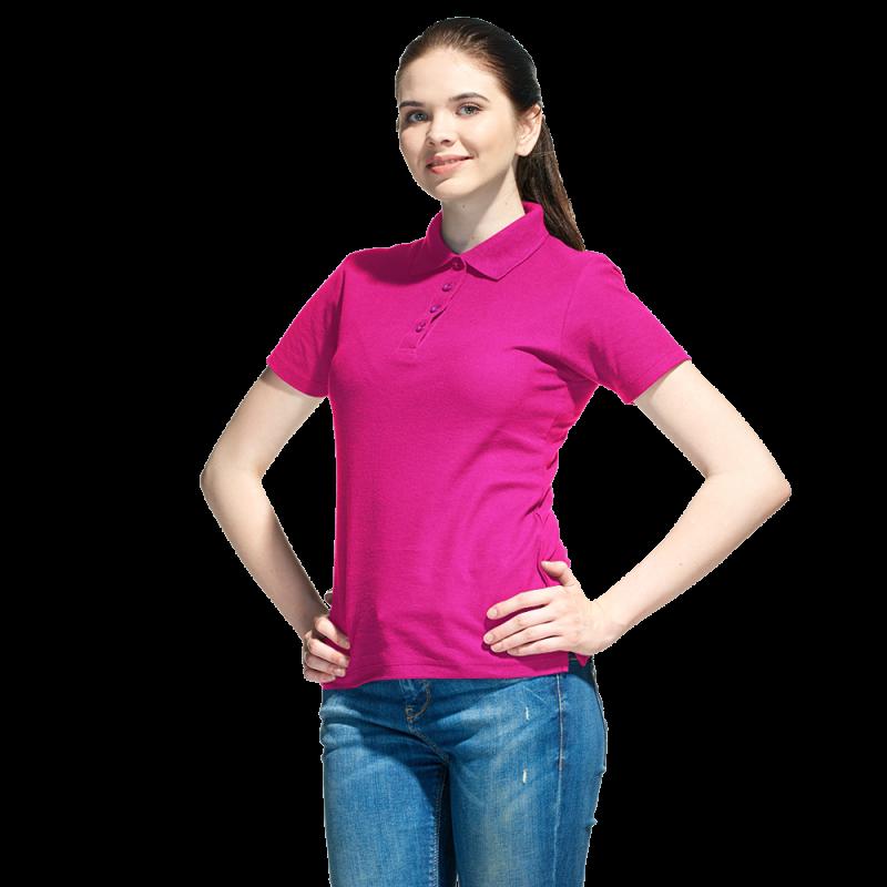 Базовая рубашка поло , StanWomen, 04WL, Ярко-розовый (92), XL/50