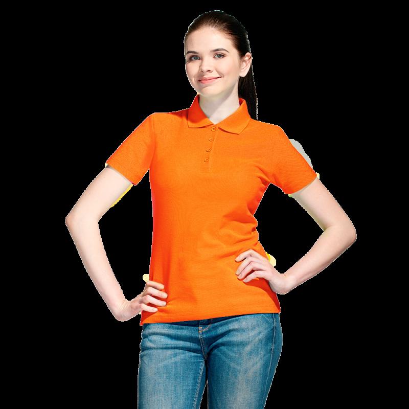 Базовая рубашка поло , StanWomen, 04WL, Оранжевый (28), XS/42