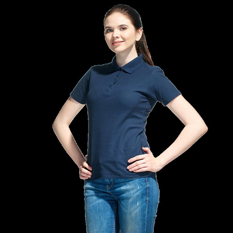 Базовая рубашка поло , StanWomen, 04WL, Тёмно-синий (46), XS/42