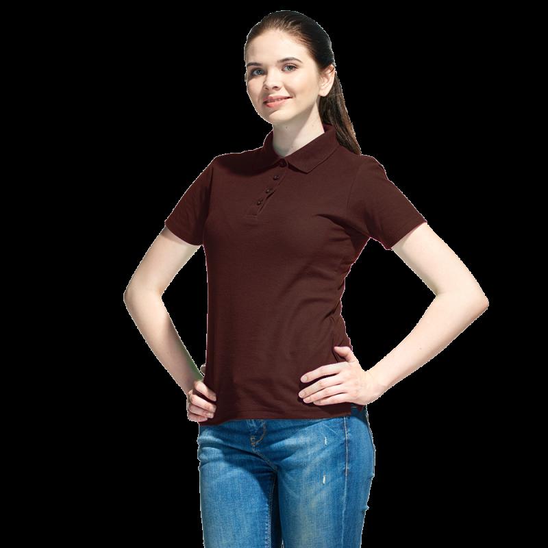 Базовая рубашка поло , StanWomen, 04WL, Тёмно-Шоколадный (107), XXL/52