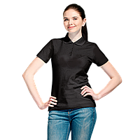 Базовая рубашка поло , StanWomen, 04WL, Чёрный (20), XXL/52