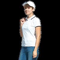 Рубашка поло с контрастной отделкой, StanTrophyWomen, 04BK, Белый (10), M/46