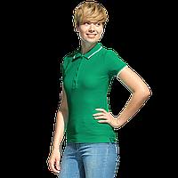 Рубашка поло с контрастной отделкой, StanTrophyWomen, 04BK, Зелёный (30), XL/50