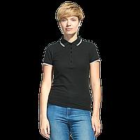Рубашка поло с контрастной отделкой, StanTrophyWomen, 04BK, Чёрный (20), XS/42