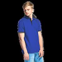 Мужская рубашка поло с контрастным воротником, StanContrast, 04C, Синий (16), XXL/54