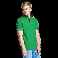 Мужская рубашка поло с контрастным воротником, StanContrast, 04C, Зелёный (30), XXXL/56