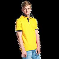 Мужская рубашка поло с контрастным воротником, StanContrast, 04C, Жёлтый (12), XL/52