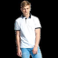 Мужская рубашка поло с контрастным воротником, StanContrast, 04C, Белый (10), XS/44