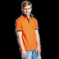 Мужская рубашка поло с контрастным воротником, StanContrast, 04C, Оранжевый (28), S/46