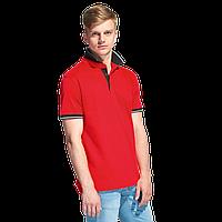 Мужская рубашка поло с контрастным воротником, StanContrast, 04C, Красный (14), XL/52