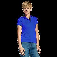 Женская рубашка поло с контрастным воротником, StanContrastWomen, 04CW, Синий (16), M/46