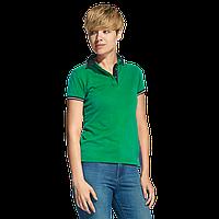 Женская рубашка поло с контрастным воротником, StanContrastWomen, 04CW, Зелёный (30), L/48