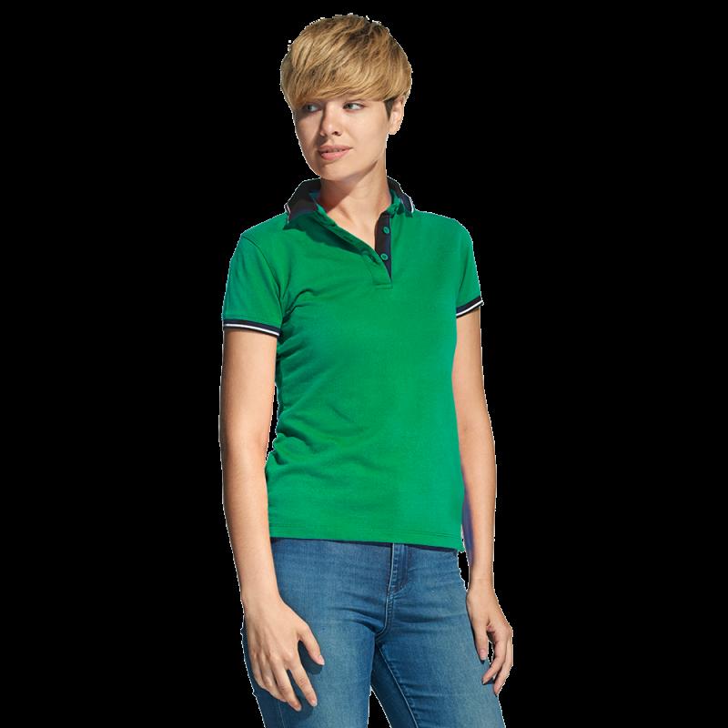 Женская рубашка поло с контрастным воротником, StanContrastWomen, 04CW, Зелёный (30), XL/50