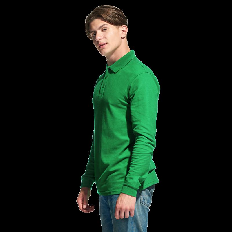 Рубашка поло с длинным рукавом, StanPolo, 04S, Зелёный (30), XXXL/56