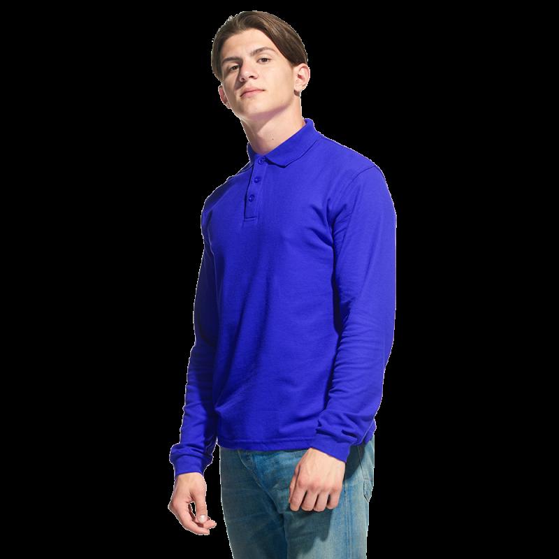 Рубашка поло с длинным рукавом, StanPolo, 04S, Синий (16), XS/44