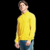 Рубашка поло с длинным рукавом, StanPolo, 04S, Жёлтый (12), XL/52