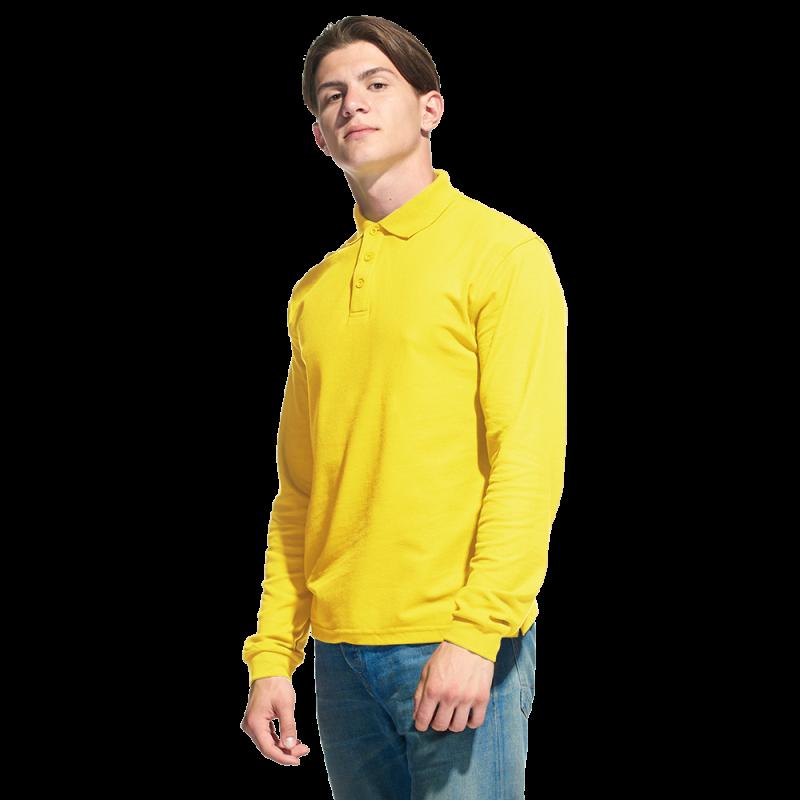 Рубашка поло с длинным рукавом, StanPolo, 04S, Жёлтый (12), L/50