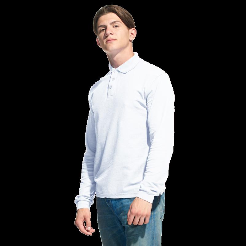 Рубашка поло с длинным рукавом, StanPolo, 04S, Белый (10), XS/44