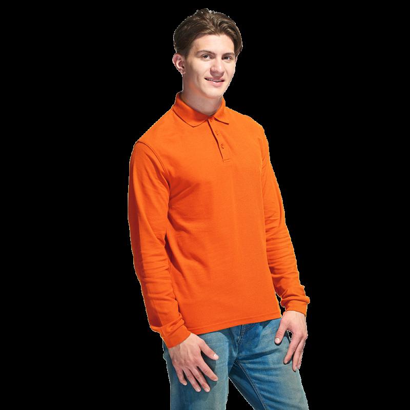Рубашка поло с длинным рукавом, StanPolo, 04S, Оранжевый (28), XXL/54