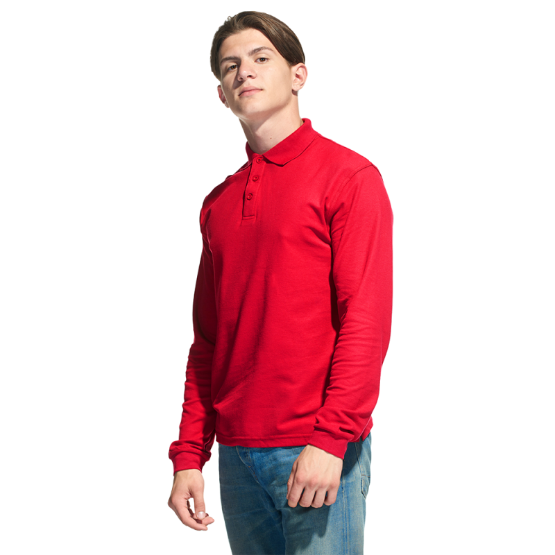 Рубашка поло с длинным рукавом, StanPolo, 04S, Красный (14), S/46