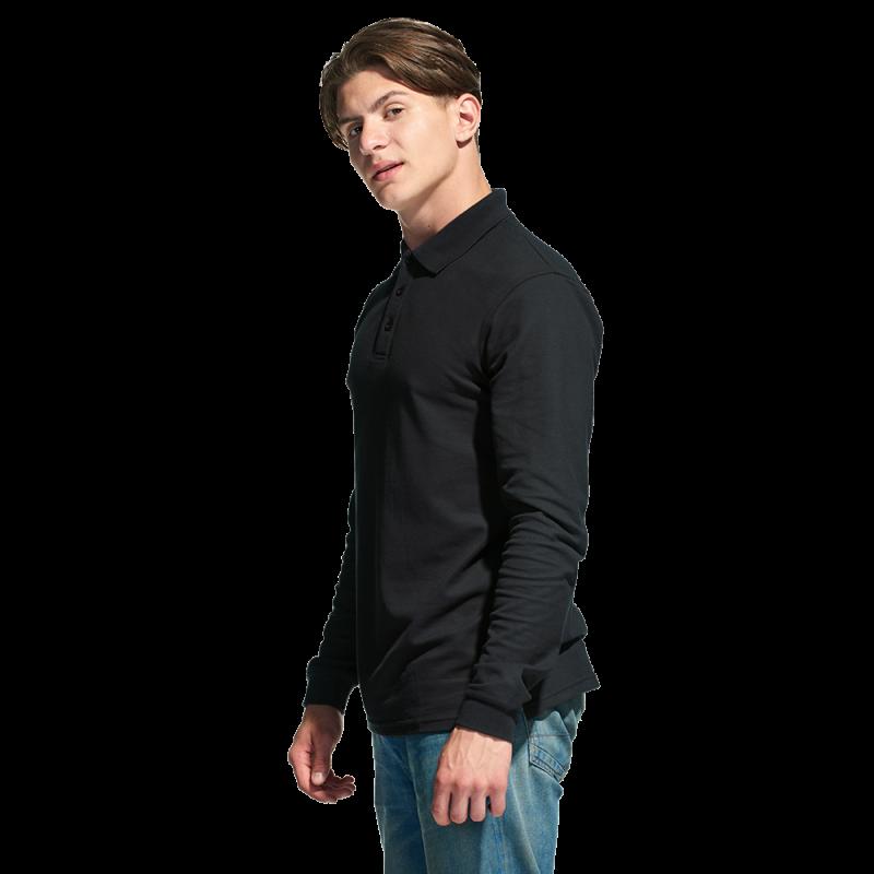 Рубашка поло с длинным рукавом, StanPolo, 04S, Чёрный (20), XL/52