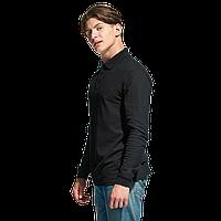 Рубашка поло с длинным рукавом, StanPolo, 04S, Чёрный (20), XXL/54