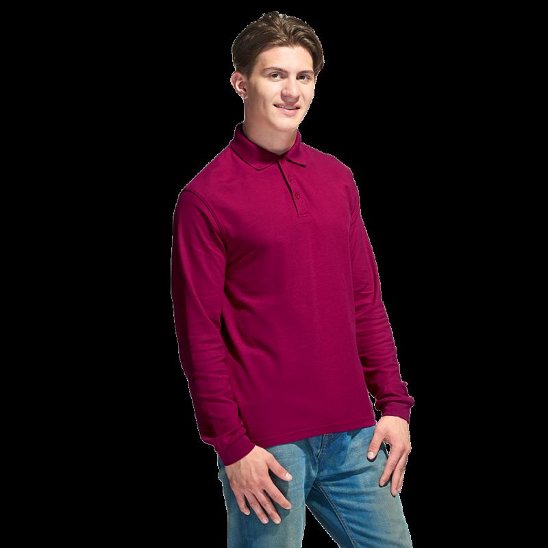 Рубашка поло с длинным рукавом, StanPolo, 04S, Бордовый (66), XXXL/56
