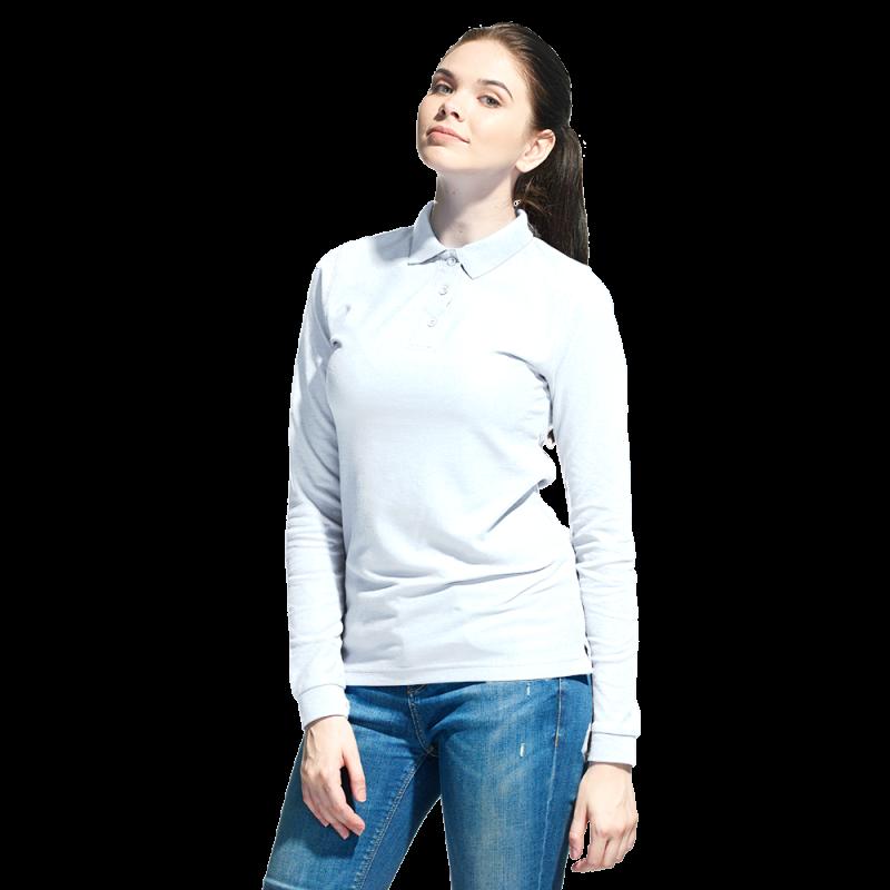Рубашка поло с длинным рукавом, StanPoloWomen, 04SW, Белый (10), M/46