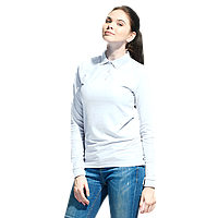 Рубашка поло с длинным рукавом, StanPoloWomen, 04SW, Белый (10), S/44