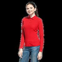 Рубашка поло сдлинным рукавом, StanPoloWomen, 04SW, Красный (14), L/48