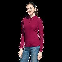 Рубашка поло сдлинным рукавом, StanPoloWomen, 04SW, Бордовый (66), S/44