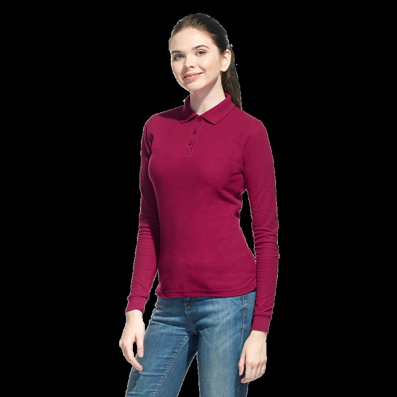 Рубашка поло с длинным рукавом, StanPoloWomen, 04SW, Бордовый (66), XL/50