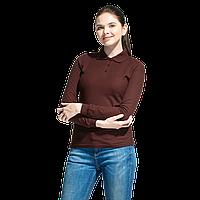 Рубашка поло сдлинным рукавом, StanPoloWomen, 04SW, Тёмно-Шоколадный (107), XXL/52