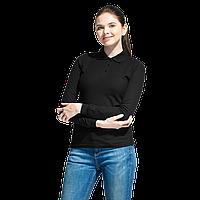 Рубашка поло сдлинным рукавом, StanPoloWomen, 04SW, Чёрный (20), XXL/52