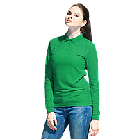 Рубашка поло сдлинным рукавом, StanPoloWomen, 04SW, Зелёный (30), S/44