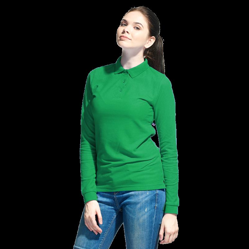 Рубашка поло сдлинным рукавом, StanPoloWomen, 04SW, Зелёный (30), XL/50