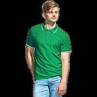 Мужская рубашка поло с отделкой, StanTrophy, 04T, Зелёный (30), M/48