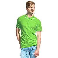 Мужская рубашка поло с отделкой, StanTrophy, 04T, Ярко-зелёный (26), XXL/54