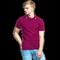 Мужская рубашка поло с отделкой, StanTrophy, 04T, Бордовый (66), XXL/54