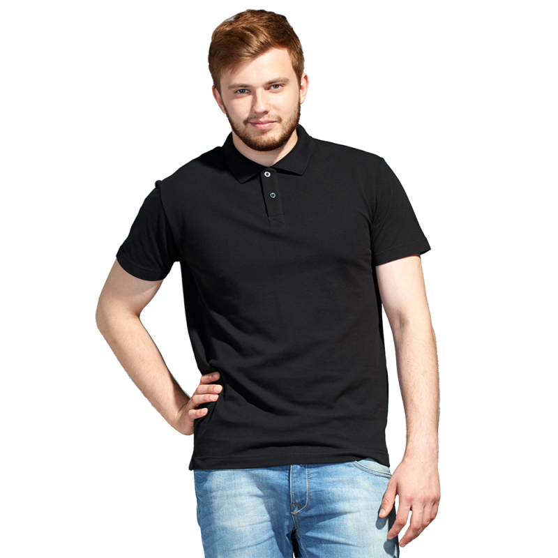 Рубашка поло унисекс, StanUniform, 04U, Чёрный (20), S/46