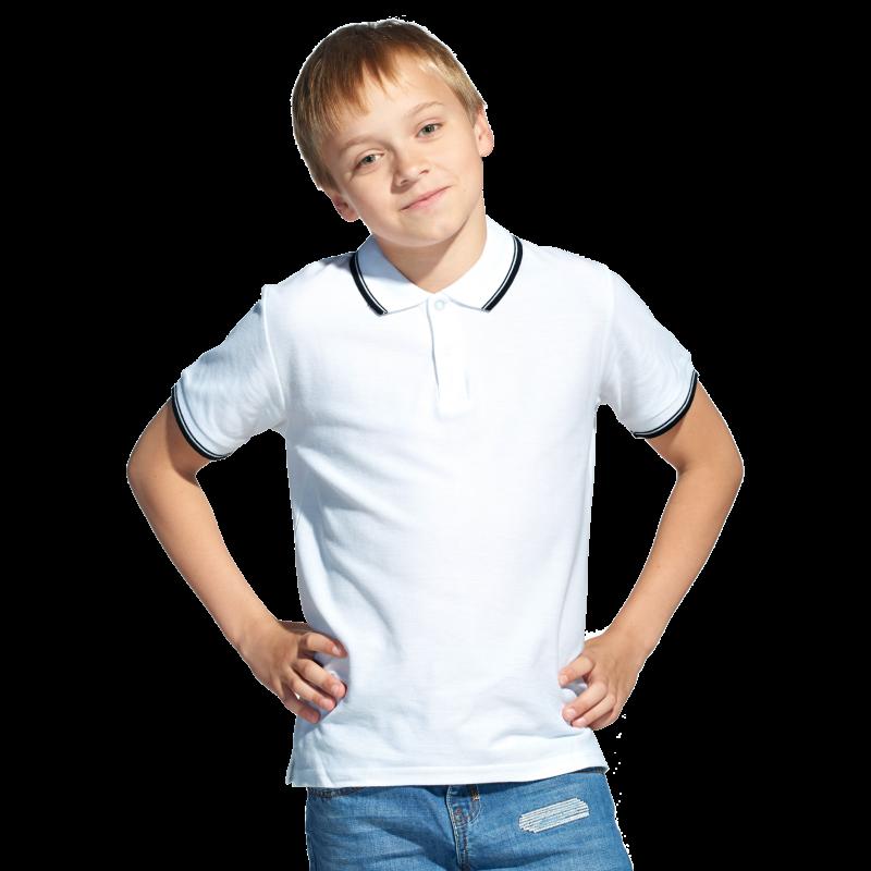 Детская рубашка поло, StanTrophyJunior, 04TJ, Белый (10), 8 лет